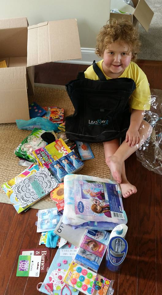 Recipient with Comfort Care Package